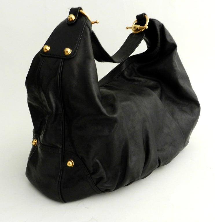 Gucci Black Large Jockey Hobo Bag 3