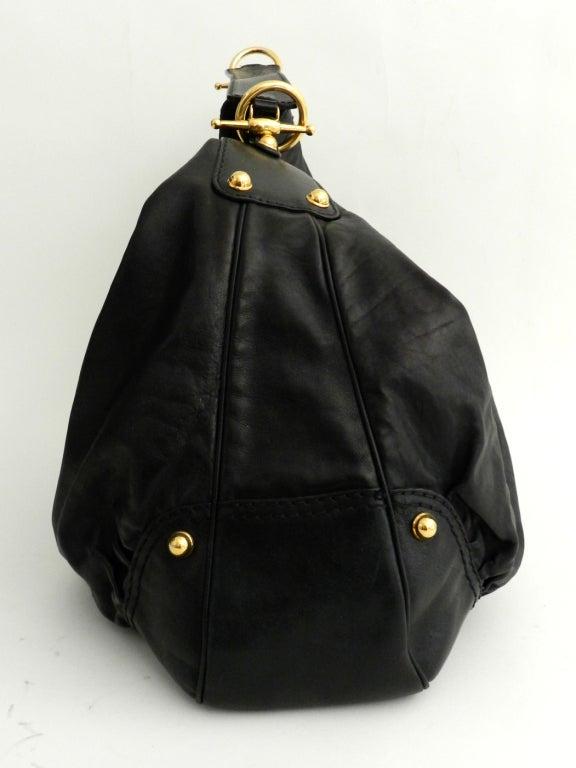 Gucci Black Large Jockey Hobo Bag 4