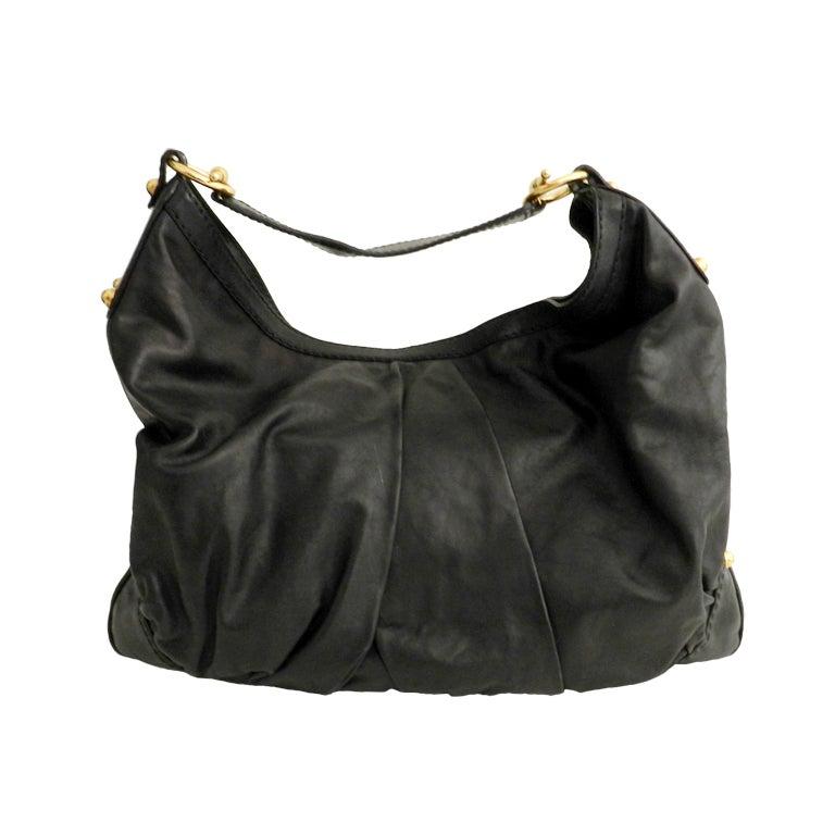 Gucci Black Large Jockey Hobo Bag 1