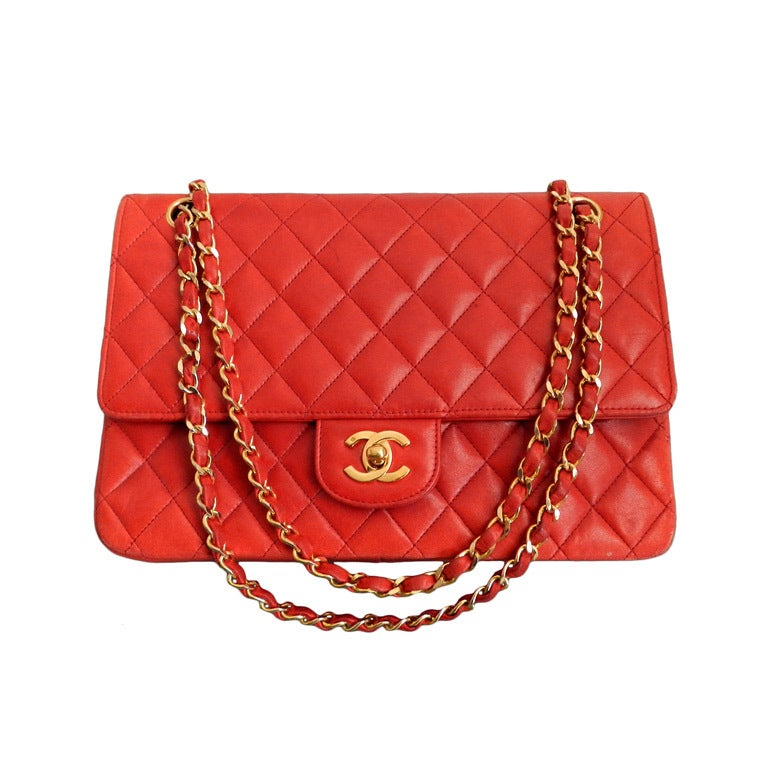 Chanel Vintage Red Quilt Purse