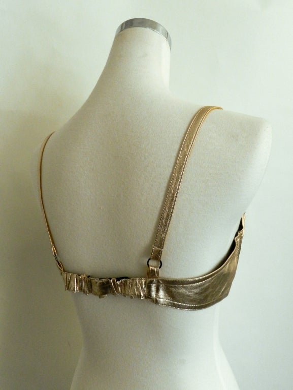 Chanel Gold Leather Bra at 1stdibs