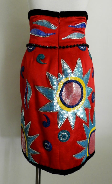 Anna de Rossi 1992 Beaded Jewelled Skirt 4