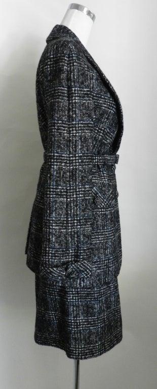 Chanel 07A Black & Grey Cashmere Skirt Suit 2