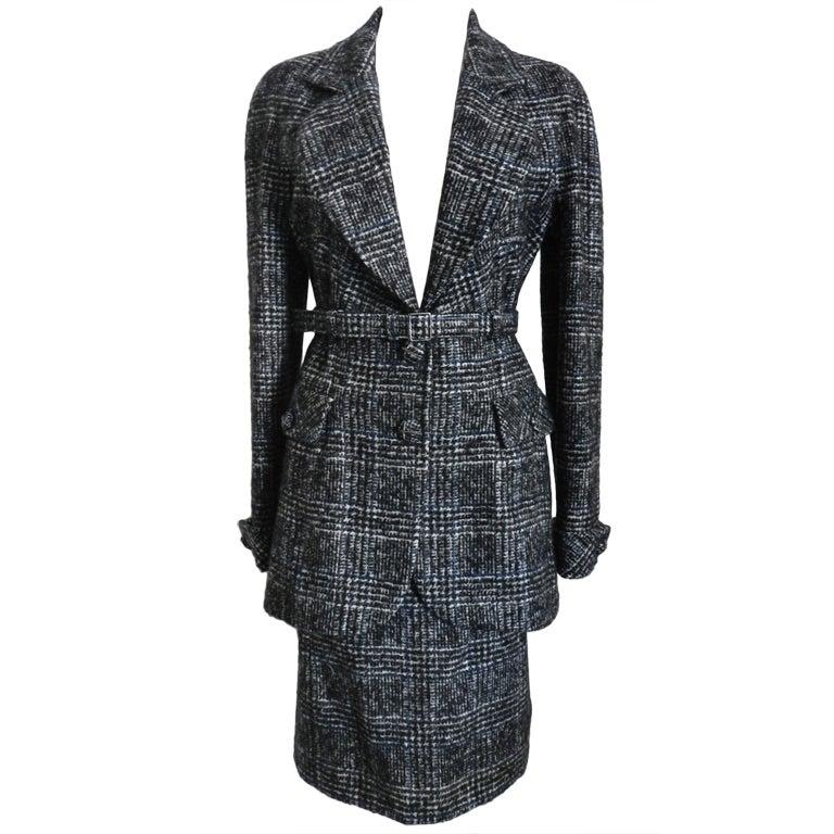Chanel 07A Black & Grey Cashmere Skirt Suit 1