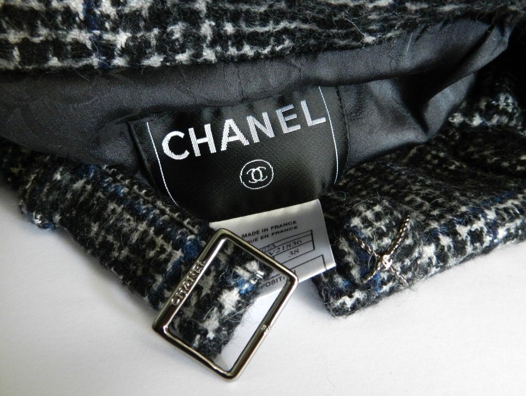 Chanel 07A Black & Grey Cashmere Skirt Suit 4