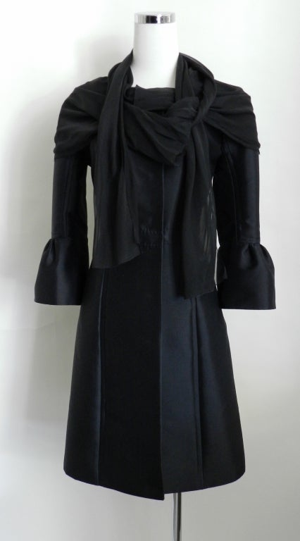 Louis Vuitton Silk Coat with Scarf image 2