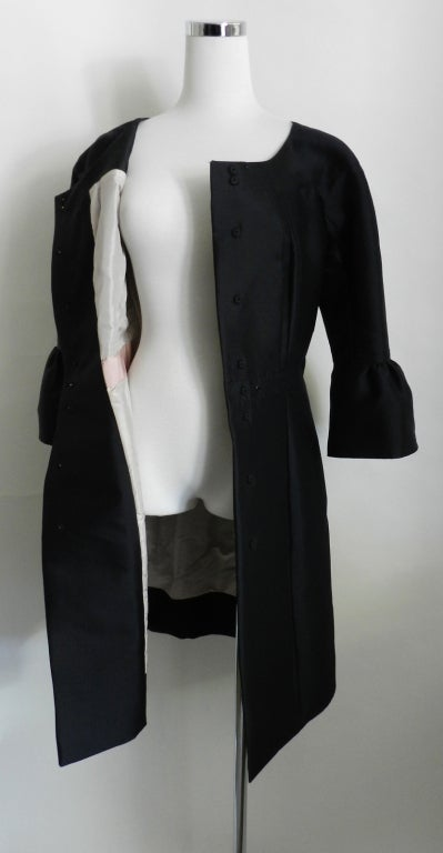 Louis Vuitton Silk Coat with Scarf image 5