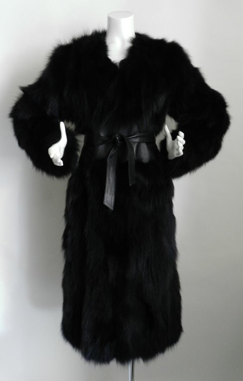 Yves Saint Laurent Haute Couture Black Fur Coat 2
