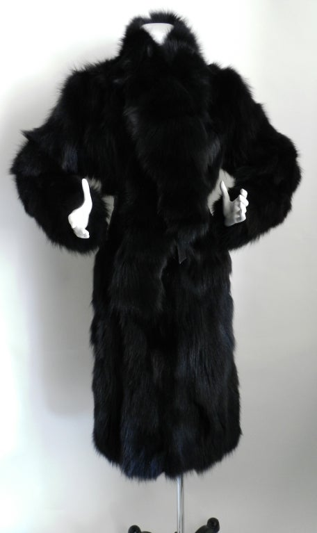 Yves Saint Laurent Haute Couture Black Fur Coat 3