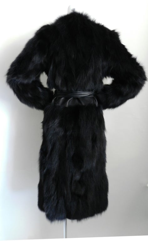 Yves Saint Laurent Haute Couture Black Fur Coat 4