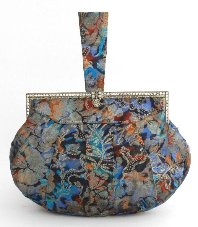 Art Deco 1930's Jewelled Brocade Purse 2