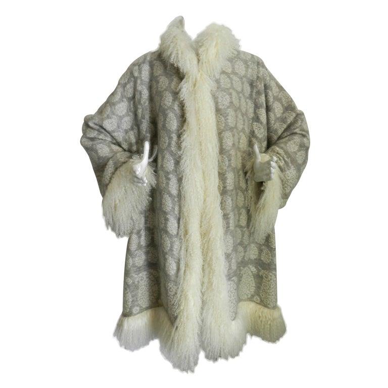Pierre balmain haute couture mongolian lamb trim jacket at for Haute couture jacket