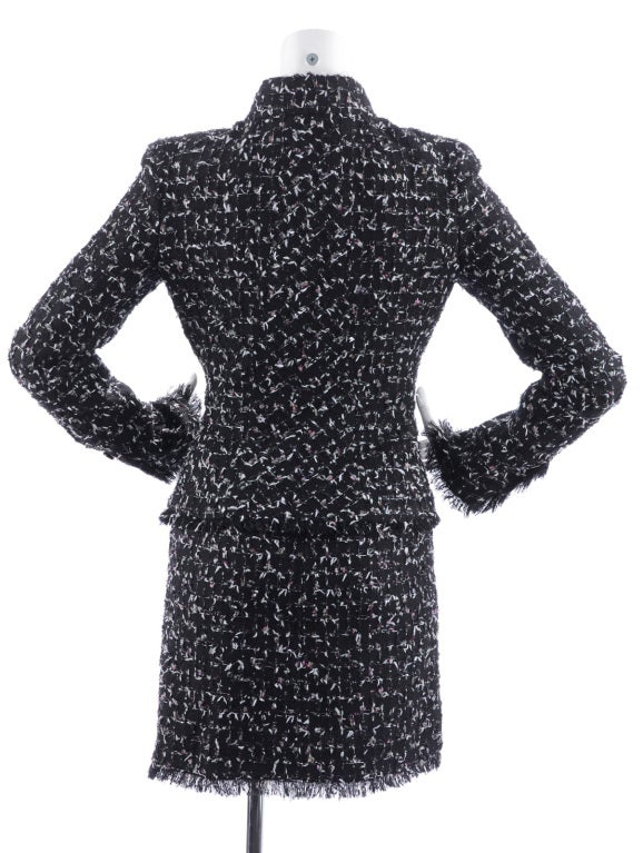 Chanel 06A Black Tweed Skirt Suit 2