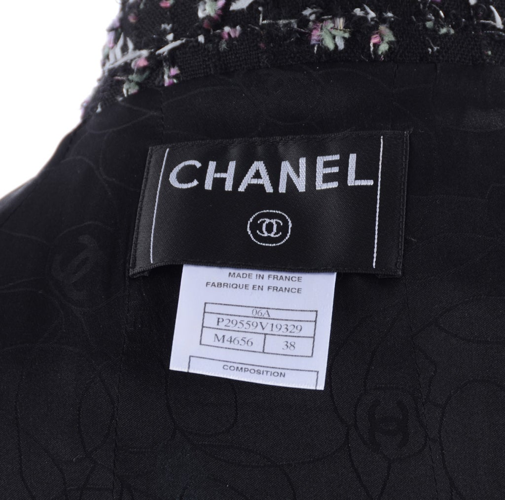 Chanel 06A Black Tweed Skirt Suit 5