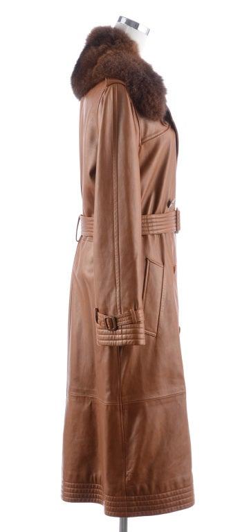 Ralph Lauren Brown Leather Coat 2