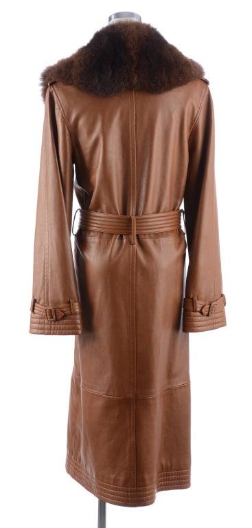 Ralph Lauren Brown Leather Coat 3