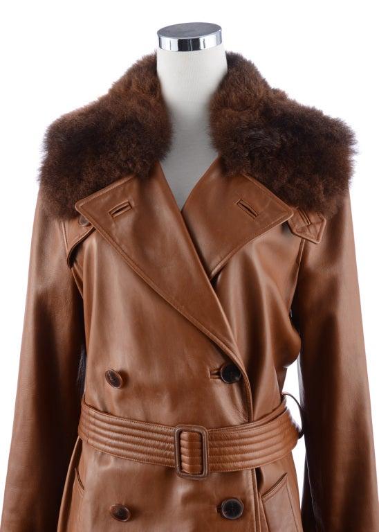 Ralph Lauren Brown Leather Coat 4