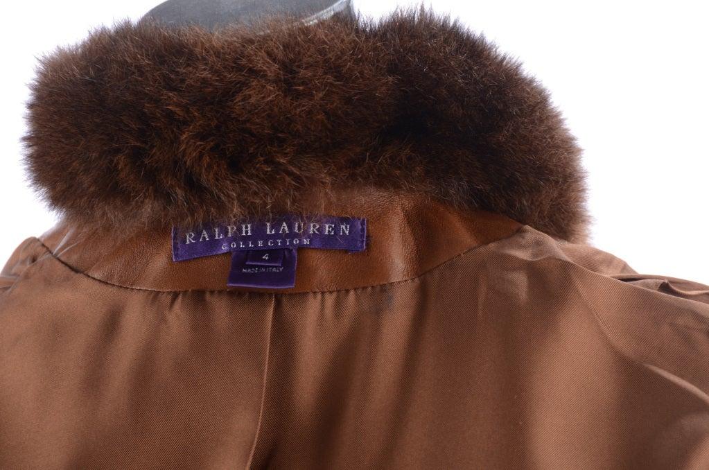 Ralph Lauren Brown Leather Coat 5