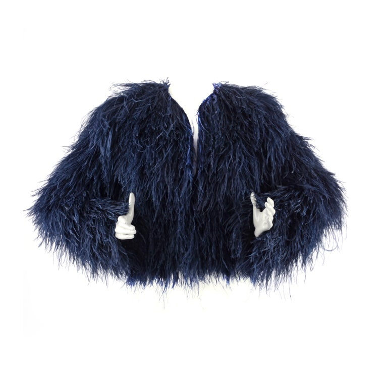 Pierre Balmain Ostrich Fur Jacket