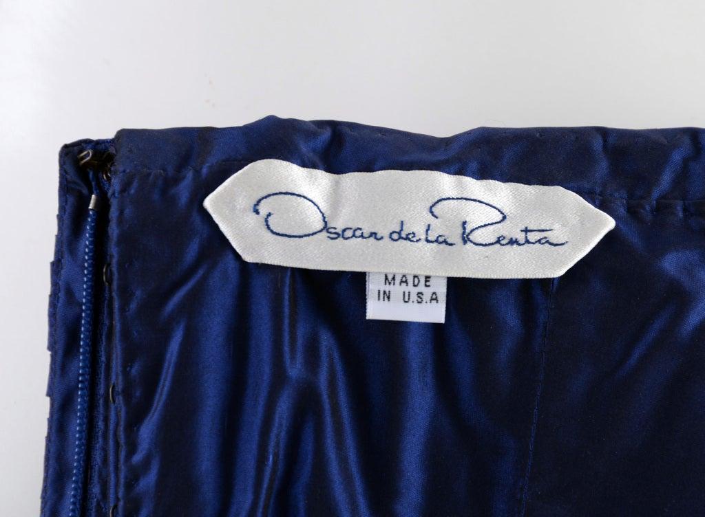 Oscar de la Renta Blue Gown with Shawl 5