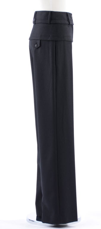 Chanel 07A Black Wool Pants 3
