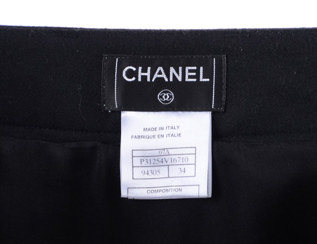Chanel 07A Black Wool Pants 5
