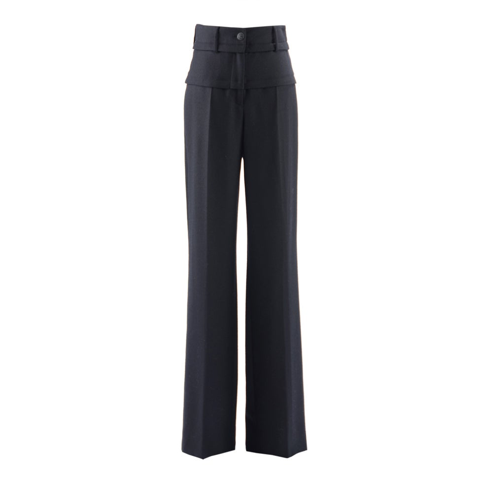 Chanel 07A Black Wool Pants 1