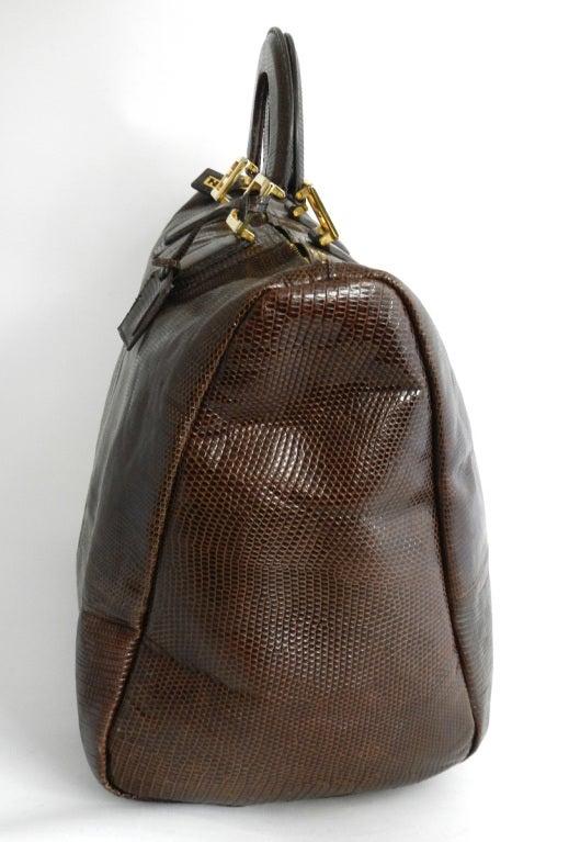 Fendi Brown Lizard Large Speedy Bag 2