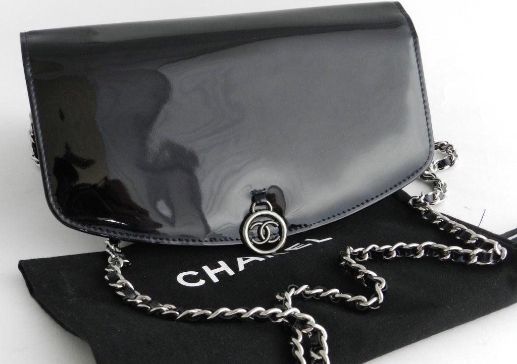 Chanel Purple Patent Wallet Purse 2