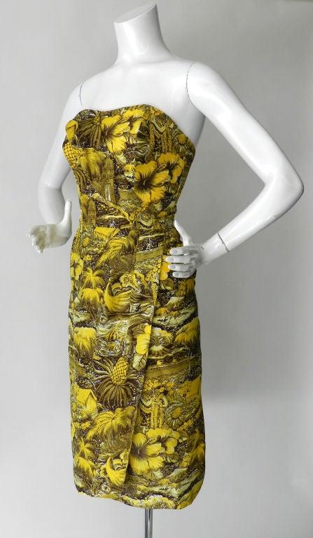 Alfred Shaheen 1950's Silk Hawaiian Dress 2
