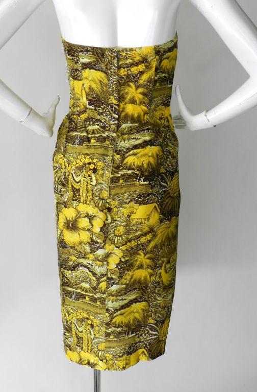 Alfred Shaheen 1950's Silk Hawaiian Dress 3