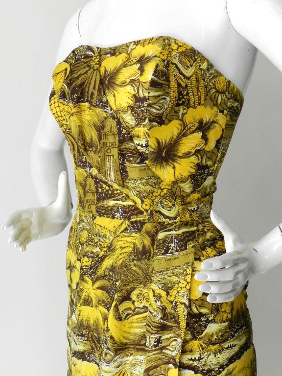 Alfred Shaheen 1950's Silk Hawaiian Dress 4