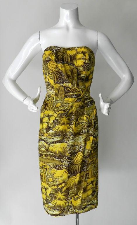 Alfred Shaheen 1950's Silk Hawaiian Dress 7