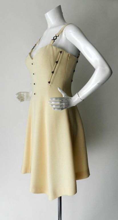 Gianni Versace couture vintage ivory corset dress 2