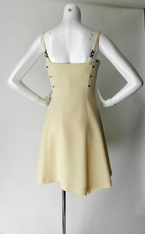 Gianni Versace couture vintage ivory corset dress 3