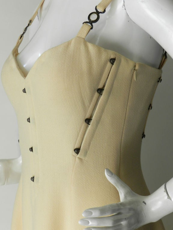 Gianni Versace couture vintage ivory corset dress 4