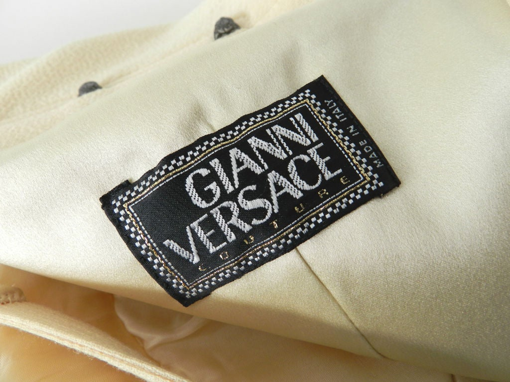 Gianni Versace couture vintage ivory corset dress 6