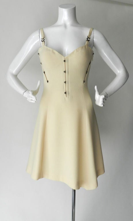 Gianni Versace couture vintage ivory corset dress 9