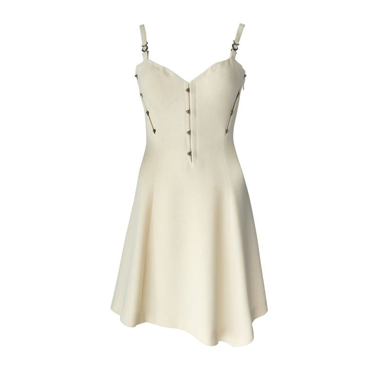 Gianni Versace couture vintage ivory corset dress 1