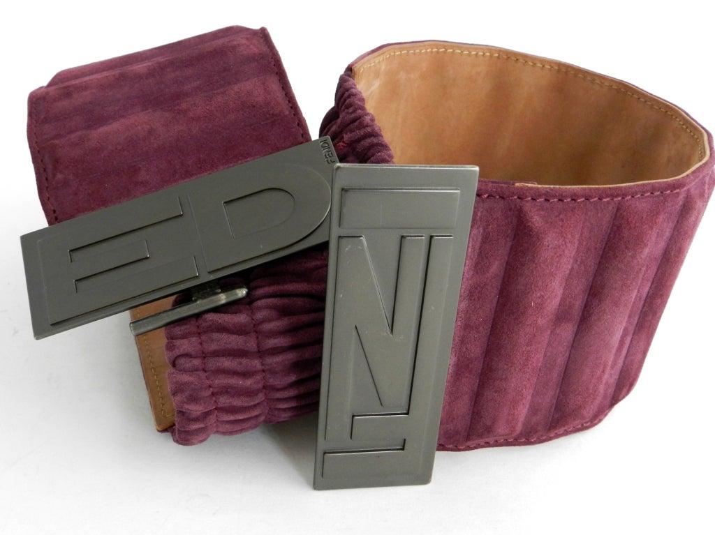 fendi purple suede wide belt at 1stdibs