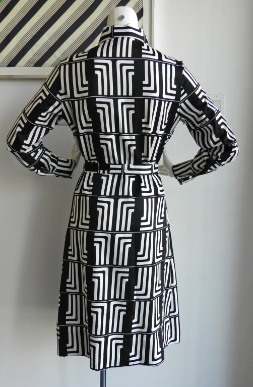 1970's Lanvin Graphic Mod Logo Dress 3