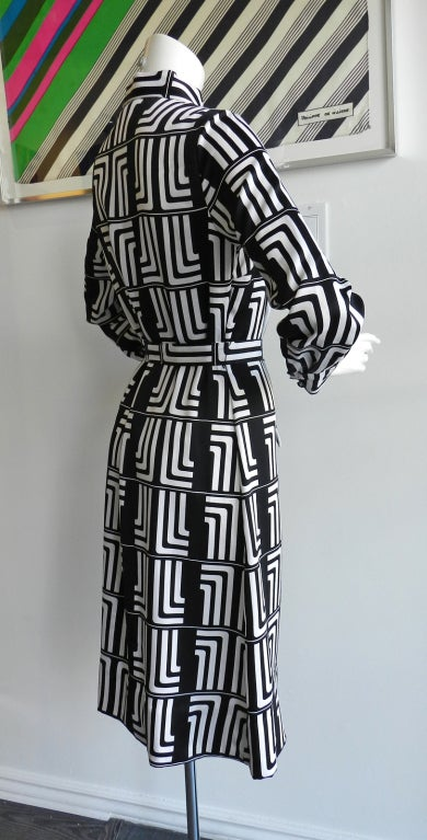 1970's Lanvin Graphic Mod Logo Dress 4