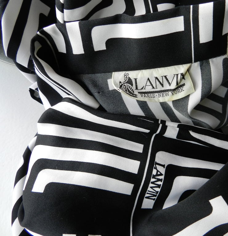 1970's Lanvin Graphic Mod Logo Dress 6