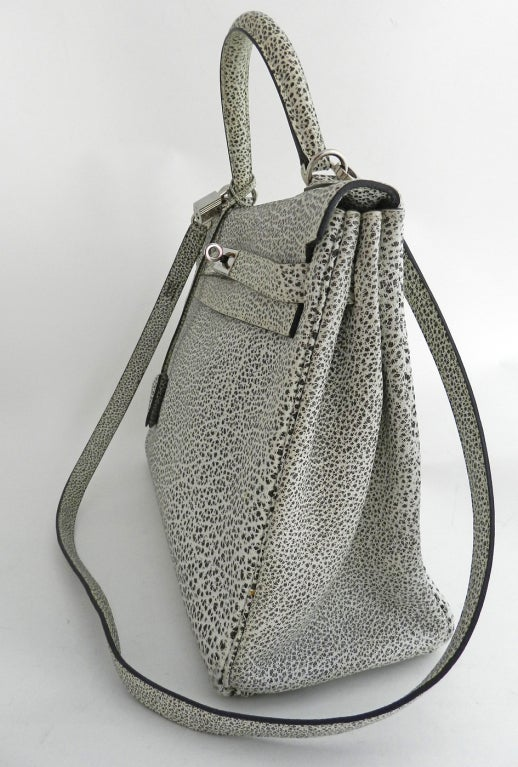 Hermes Dalmatian Kelly 32 Bag in Buffalo Skipper Leather 3