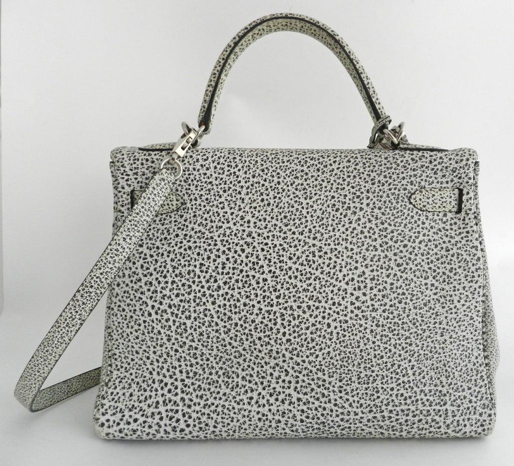 Hermes Dalmatian Kelly 32 Bag in Buffalo Skipper Leather 4