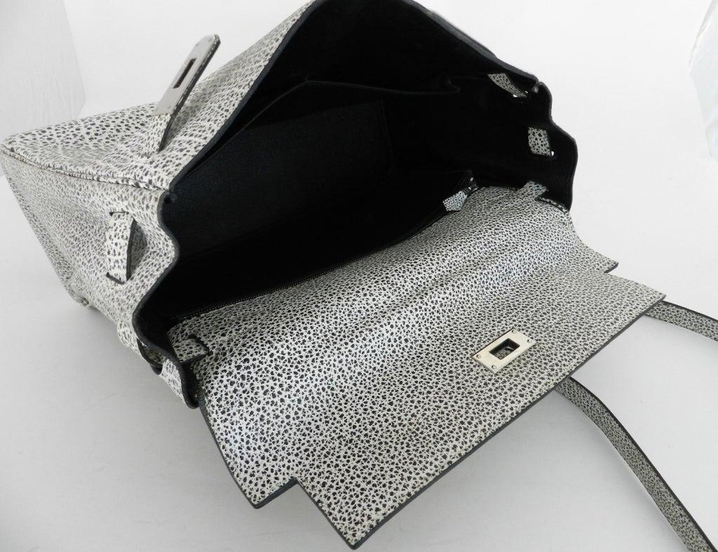 Hermes Dalmatian Kelly 32 Bag in Buffalo Skipper Leather 5