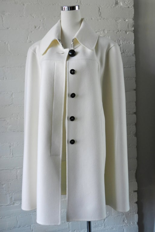 Celine White Cashmere Wool Cape At 1stdibs