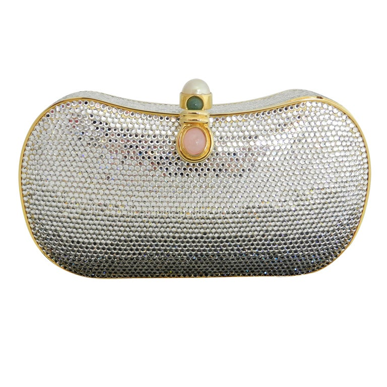 Judith Leiber Jewelled Minaudiere Evening Bag 1