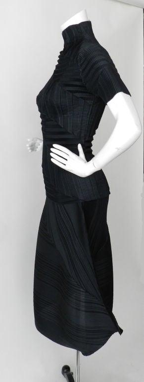 Issey Miyake Black Pleated Skirt & Top image 2