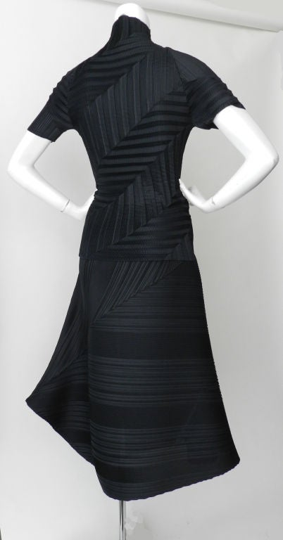 Issey Miyake Black Pleated Skirt & Top image 3